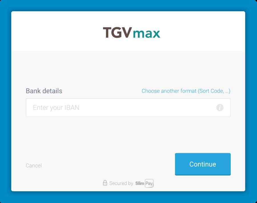 Checkout SlimPay TGVmax